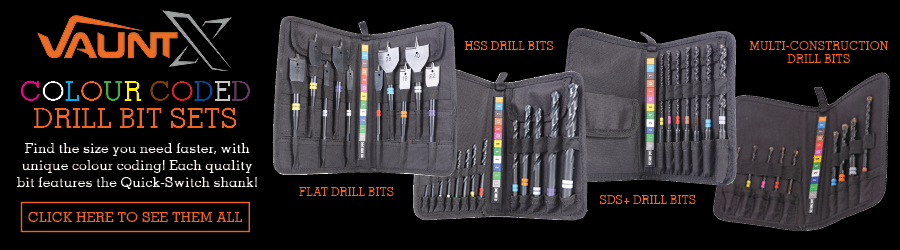 Vaunt Colour Coded Drill Bit Sets