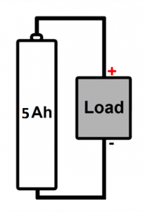 Diagram of battery circuit with load