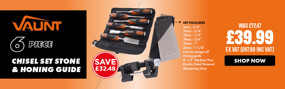 Vaunt 6 Piece Chisel, Stone & Guide Set